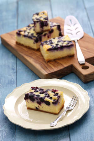 biscuits: Blueberry cheesecake, homemade dessert