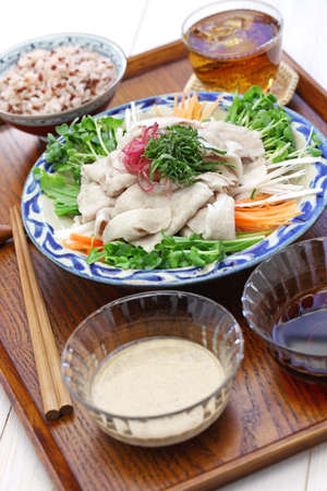 REI shabu, cold pork salad, japanese summer cuisine