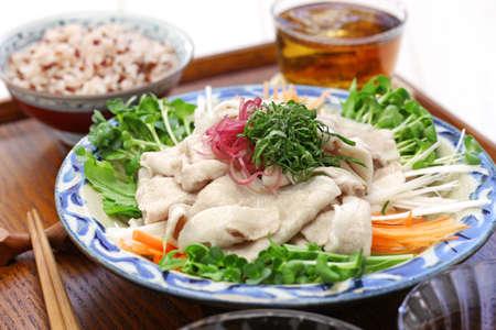 Kalte Sommerküche : Rei shabu kalt pok salat japanische sommerküche lizenzfreie
