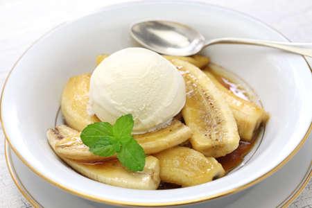 bananas foster, the classic american dessert Stok Fotoğraf - 60934116
