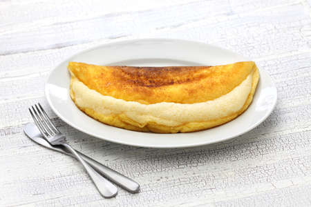 michel: homemade mont saint michel style fluffy souffle omelet Stock Photo