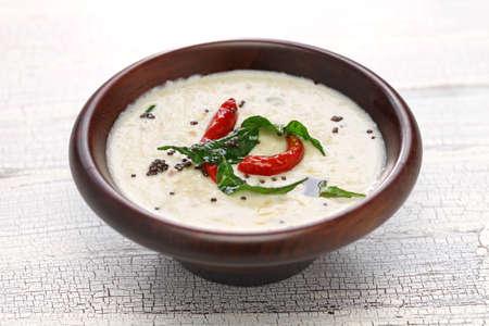 chutney: homemade coconut chutney, indian food