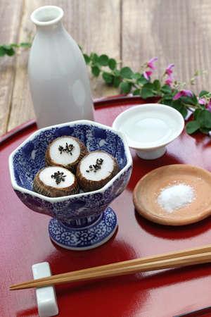 kinukatsugi, small steamed taro, japanese food