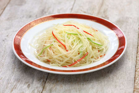 spicy cooking: stir fried shredded potatoes, chinese cuisine