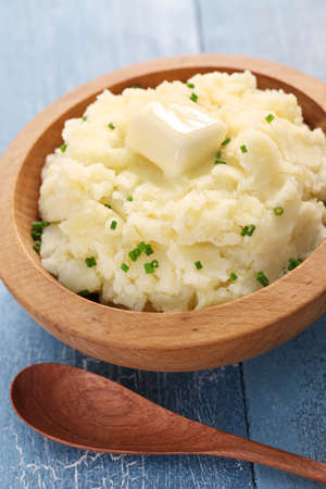 mashed: mashed potatoes with melting butter