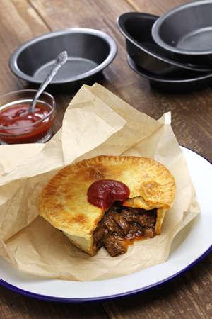 aussie: homemade aussie meat pie Stock Photo