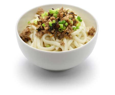 Dan dan noodles, chinese sichuan cuisine, before mix Reklamní fotografie