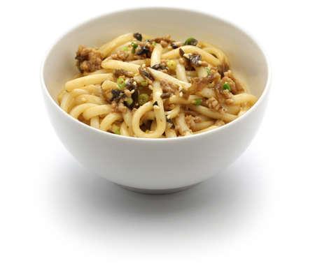mian: Dan dan noodles, chinese sichuan cuisine, after mixed