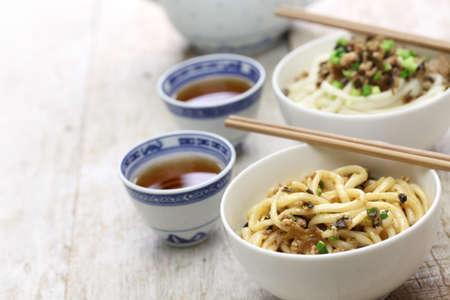 sichuan: Dan dan noodles, chinese sichuan cuisine Stock Photo