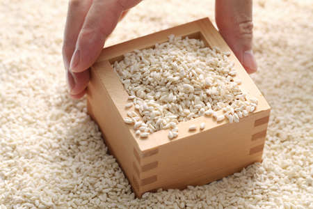 malted: malted rice, japanese fermentation food Stock Photo