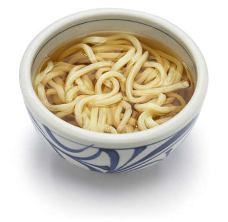 broth: Kake udon, japanese udon noodles in broth