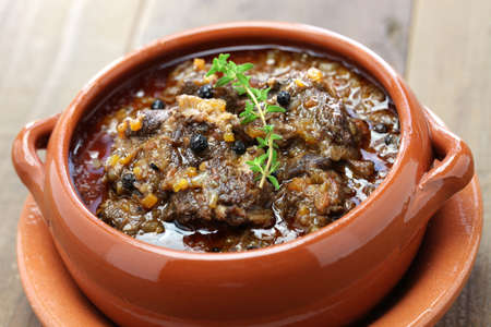peppered: peposo, tuscan peppered beef stew, traditional italian cuisine