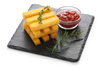 corn meal: Fried polenta, polenta sticks, polenta fries