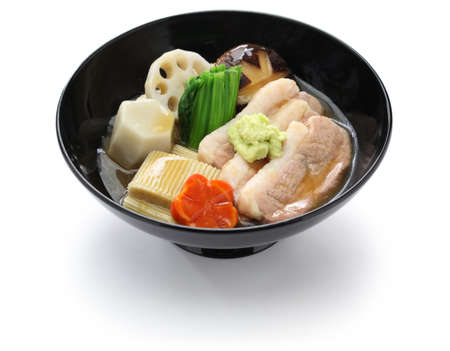 Jibuni, Anazawa style duck meat stew, japanese cuisine Stock Photo