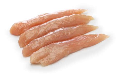 Ruwe Kippenaanbod geïsoleerd op een witte achtergrond Stockfoto