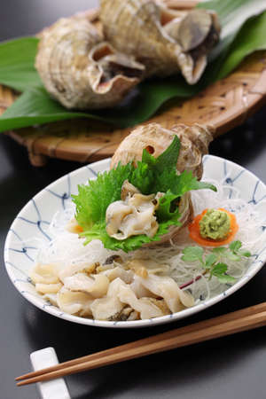tsubu gai sashimi, japanese whelk sashimi