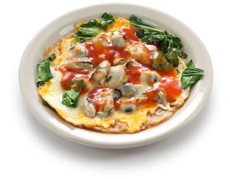 Tortilla de ostras taiwanés Foto de archivo - 71052388