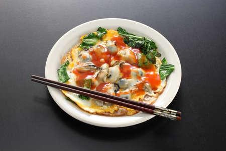 台湾の牡蠣オムレツ