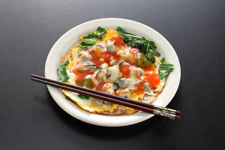 taiwanese oyster omelet Stock fotó - 71052384