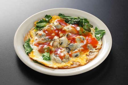 Omelette oysterese ostriche Archivio Fotografico - 71105877