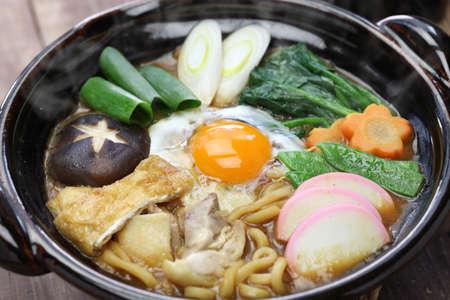 miso nikomi udon noodle soup, japanese food