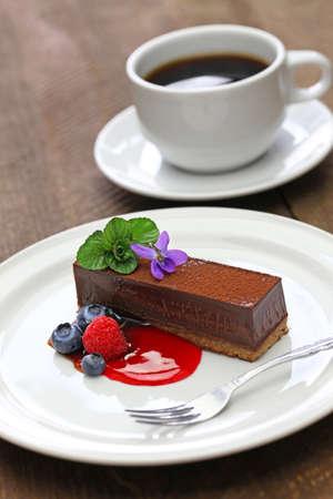 close up: homemade chocolate cake Stock Photo