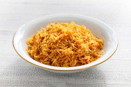 jollof rice, west african cuisine Stock Photo