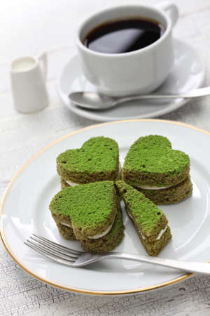 clovers: Shamrock green cake, homemade dessert for saint patricks day Stock Photo