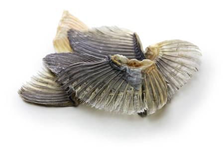 dried blowfish fins for Hirezake (japanese hot sake drink). Stock Photo