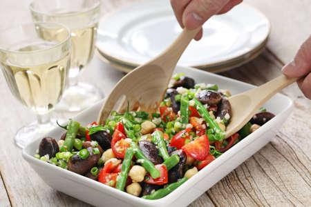 diet dinner: three bean salad