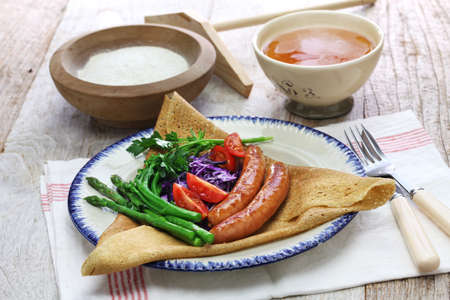 Galette du triangle, a buckwheat crepe, french brittany cuisine