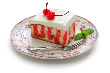 jello: Homemade cherry poke cake