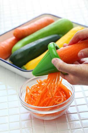 making healthy diet vegetable noodles salad, vegetarian food
