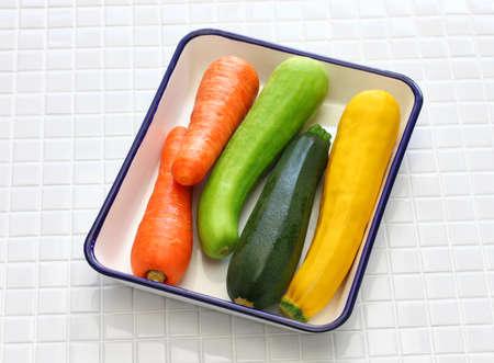 ingredients of vegetable noodles, vegetarian cooking Stock Photo
