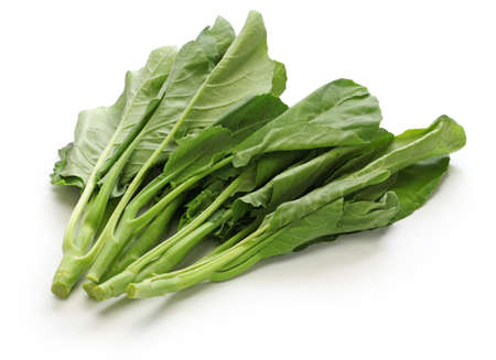 Chinese kale, chinese broccoli isolated on white background Archivio Fotografico