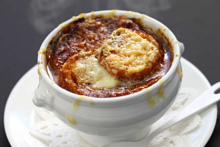 french onion soup Archivio Fotografico