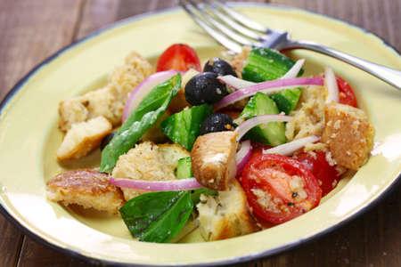 panzanella Tuscan bread and tomato salad, italian cuisine