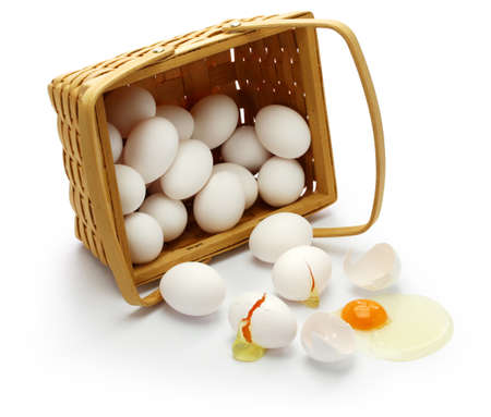 dont put all your eggs in one basket. American sayings Stock Photo