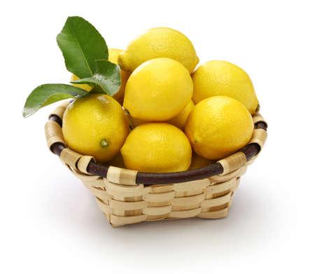 pesticide free organic lemons isolated on white background Stock Photo