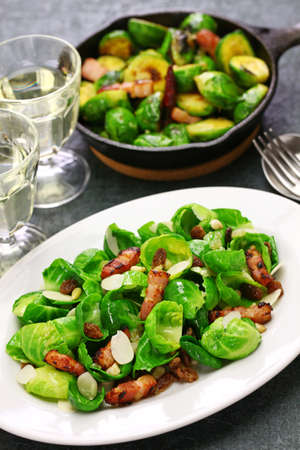 brussels sprouts salad and roasted brussels sprouts