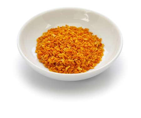 homemade dried Yuzu (Japanese aromatic citrus) zest, japanese cuisine ingredient