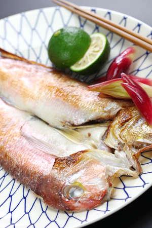 Grilled japanese tilefish, amadai no wakasa yaki
