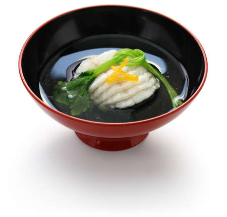 greenling soup, ainame-wan, japanese kaiseki cuisine
