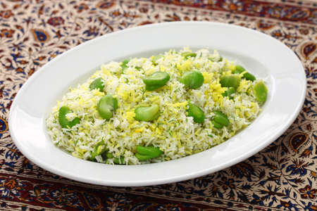 baghali polo, fava beans rice and iranian cuisine