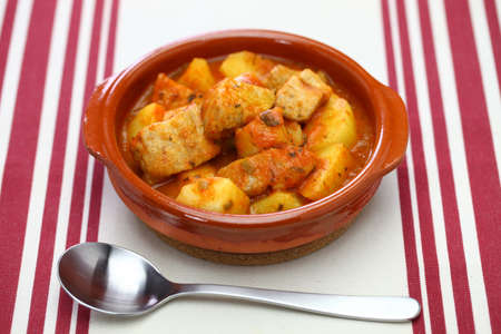 marmitako, tuna and potatoes stew, spanish basque cuisine