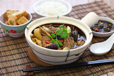 Malaysia bak kut teh, traditional chinese herbal pork ribs soup Stock Photo