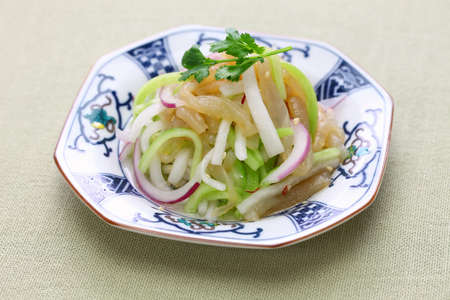 jellyfish salad, chinese cuisine, cold dish