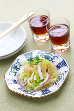 jellyfish salad and shaoxing wine, chinese cuisine