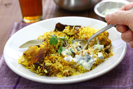 hyderabadi chicken biryani, indian cuisine