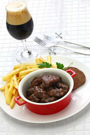 ragoût de bœuf flamand, carbonade flamande et cuisine belge Banque d'images